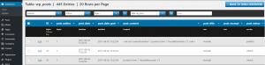 WordPress Plugin TS Comfort Database Tabelleninhalte
